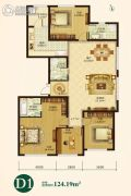 辰能溪树庭院(南区)4室2厅3卫0平方米户型图