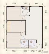 东山康城3室2厅2卫96平方米户型图