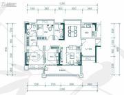中惠�h园3室2厅2卫118平方米户型图