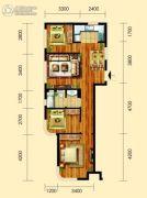 御园3室2厅1卫95平方米户型图