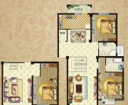 御华府3室3厅1卫168平方米户型图