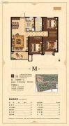 荣盛花语城3室2厅1卫102平方米户型图