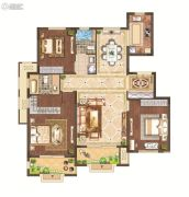 月桥花院3室2厅2卫122平方米户型图