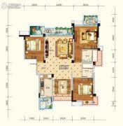 水润东都3室2厅2卫121平方米户型图