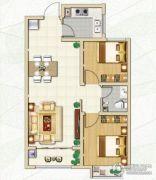 林荫春天2室2厅1卫77平方米户型图