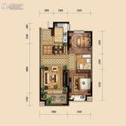 金地悦峰2室2厅1卫90平方米户型图