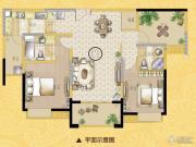 海门中南世纪锦城3室2厅2卫0平方米户型图