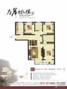 左岸枫桥3室2厅2卫146平方米户型图