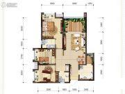 首创光和城2室2厅1卫84平方米户型图