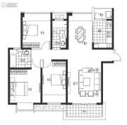 海岸城・郦园3室2厅2卫126平方米户型图