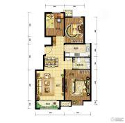 中国铁建・青秀尚城3室2厅1卫93平方米户型图