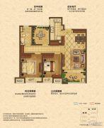 中海锦��湾3室2厅1卫88平方米户型图