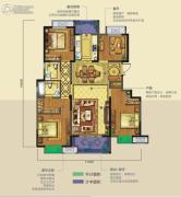 龙湖香醍�Z宸3室3厅2卫140平方米户型图