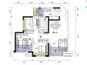 招商依云上城3室2厅1卫82平方米户型图