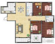 海洋・名仕公馆4室2厅2卫168平方米户型图