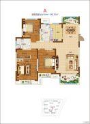 郑开橄榄城3室2厅2卫133--136平方米户型图