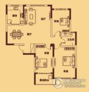 宏伟西雅图3室2厅1卫126平方米户型图