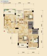 香岸华府二期3室2厅2卫122平方米户型图