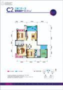 贵熙帝景C组团3室2厅1卫93平方米户型图