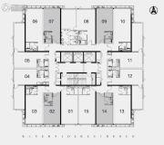 江湾2981室1厅1卫49--54平方米户型图
