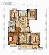 中梁・悦荣府4室2厅2卫135平方米户型图