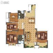 上城印象4室2厅2卫140平方米户型图