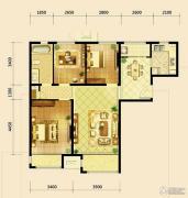 鸿坤・曦望山3室2厅1卫112平方米户型图