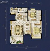 恒泰珑湖3室2厅2卫145平方米户型图