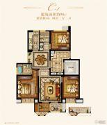金城豪庭4室2厅2卫98平方米户型图