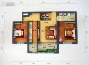 景园・盛世华都2室2厅1卫102平方米户型图