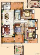 充耀盛荟3室2厅2卫129平方米户型图