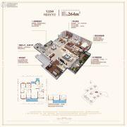 碧桂园・玖玺台5室2厅3卫264平方米户型图