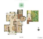 新田城3室2厅2卫0平方米户型图