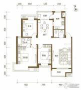 颐和城3室2厅2卫126平方米户型图