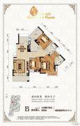 琥珀・东岸3室2厅2卫137平方米户型图
