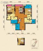 博雅锦苑2室2厅2卫110平方米户型图