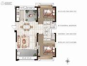 香榭一品3室2厅2卫115平方米户型图