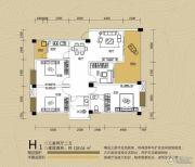 江都栋缤3室2厅2卫128平方米户型图