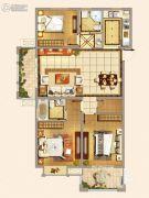 仁和景苑3室2厅2卫117平方米户型图