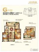 金科世界城3室2厅3卫256平方米户型图