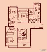 恒大雅苑3室2厅2卫132平方米户型图