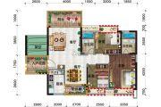 金穗・悦景台3室2厅2卫106平方米户型图