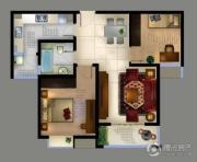 城置御水华庭2室2厅1卫89平方米户型图