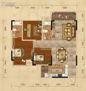 广汇・圣湖城3室2厅2卫108平方米户型图