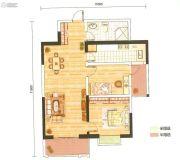 金泰国际二期凯佩2室2厅1卫98平方米户型图