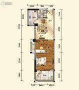 五堰・新天地2室2厅1卫59平方米户型图