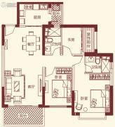 恒大帝景3室2厅2卫112平方米户型图