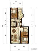 中海枫丹公馆2室2厅2卫137平方米户型图