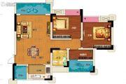 两江春城3室2厅1卫73平方米户型图