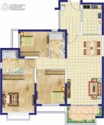 安阳恒大绿洲三期(恒大城)3室2厅2卫133平方米户型图
